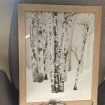 Akwarela brzozy zimą - Pomysły na prezenty