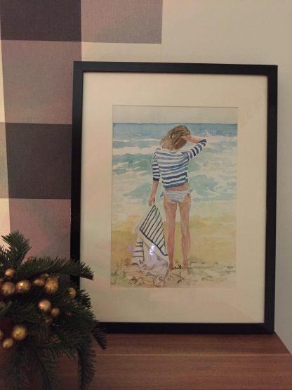 Plakat A4 dziewczyna na plaży